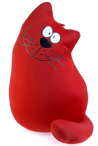 """Релаксанты Красный куб Игрушка-подушка мягкая """"Кот на счастье"""""""