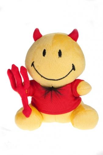 """Плюшевые игрушки Красный куб Игрушка мягкая """"Смайлик-дьяволенок"""""""