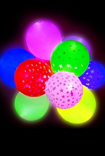 Светящиеся украшения Красный куб Набор шаров воздушных светящихся