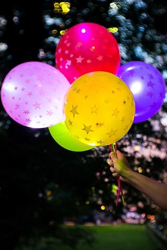 """Светящиеся украшения Красный куб Набор шаров воздушных светящихся """"Звездочки"""""""