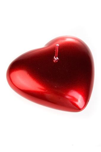 """Декоративные свечи Красный куб Свеча """"Горящее сердце"""""""