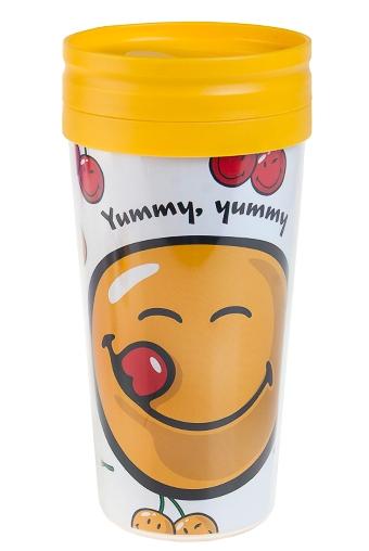 """Термокружки и стаканы для чая/кофе Красный куб Термокружка с крышкой """"Аппетитный смайл"""""""