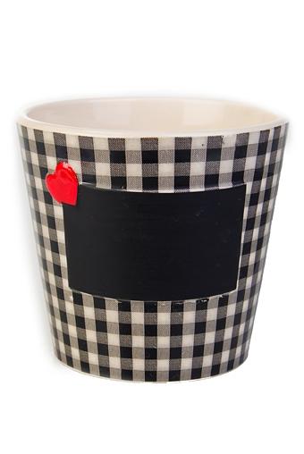 """Кашпо для цветов Красный куб Горшок для цветов """"Любовное послание"""""""