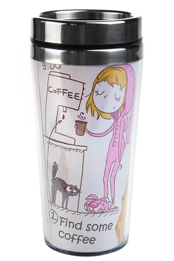 """Термокружки и стаканы для чая/кофе Красный куб Термокружка с крышкой """"Бодрость духа"""""""