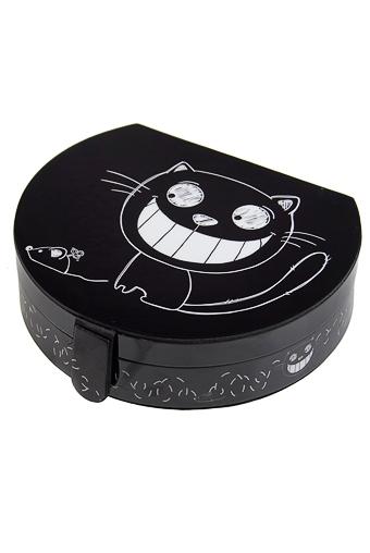 """Шкатулки для украшений Красный куб Шкатулка для ювелирных украшений """"Кошка с мышкой"""""""