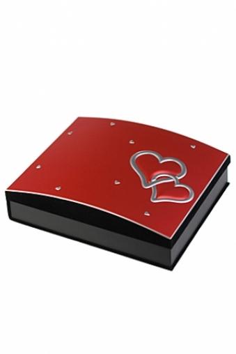 """Свадебные фотоальбомы Красный куб Фотоальбом """"Влюбленные сердца"""""""