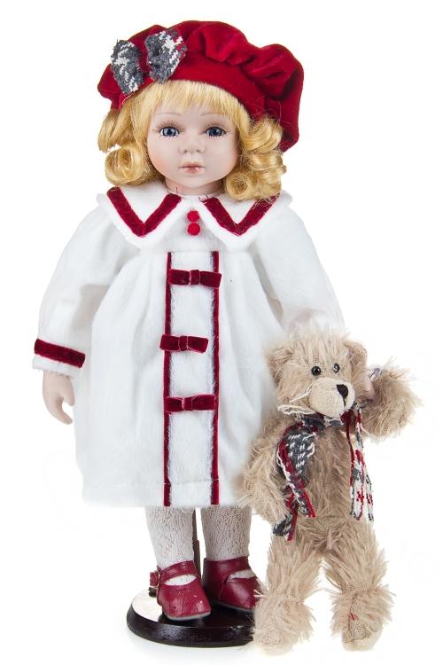"""Текстильные игрушки Красный куб Кукла """"Малышка в чепчике"""""""
