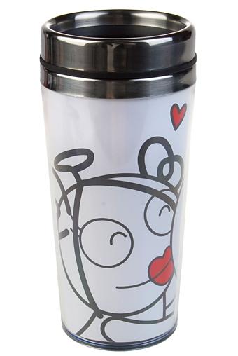 """Термокружки и стаканы для чая/кофе Красный куб Термокружка с крышкой """"Целую тебя"""""""