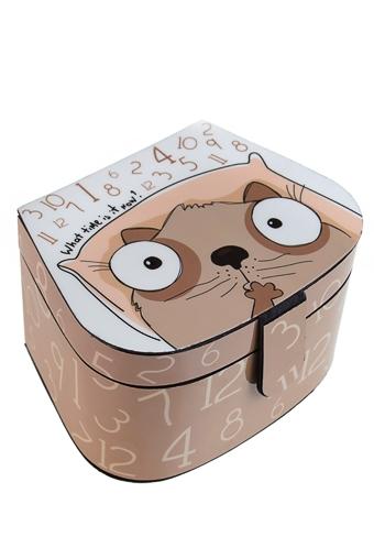 """Шкатулки для украшений Красный куб Шкатулка для ювелирных украшений """"Который час?!"""""""