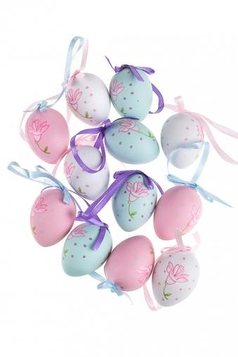"""Декоративные гирлянды и подвески Красный куб Набор яиц декоративных """"Нежные цветы"""""""