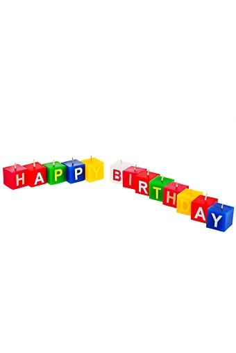 """Свечи для торта и вечеринок Красный куб Набор свечей """"Разноцветные кубики"""""""
