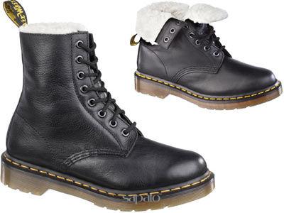 Ботинки Dr. Martens 13239002 Serena Black Dr Martens мех чёрные