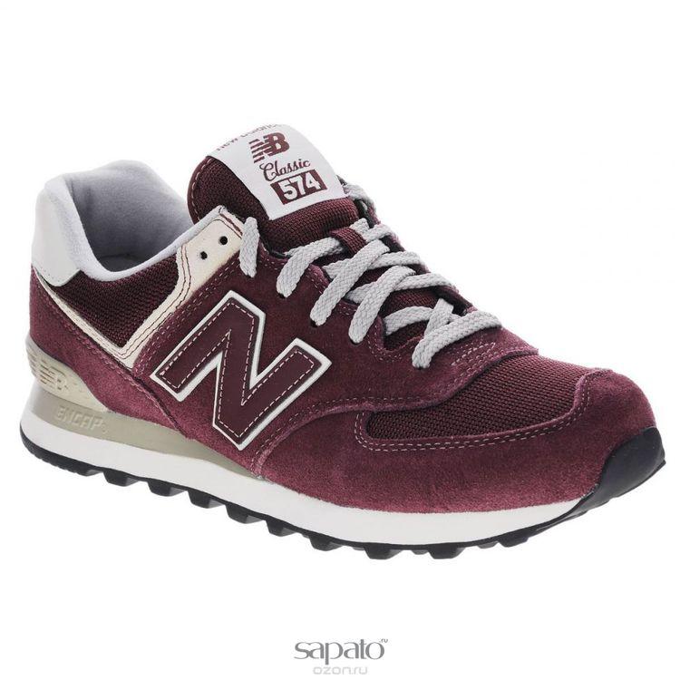 Кроссовки New Balance Кроссовки мужские. ML574VWI/D бордовые