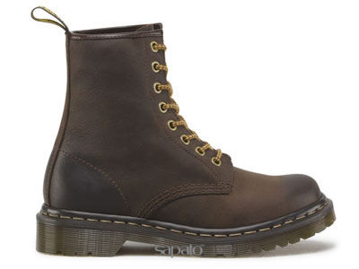 Ботинки Dr. Martens 16164201 1460 W Dark Brown Burnished Dr Martens коричневые