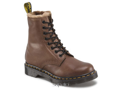 Ботинки Dr. Martens 13934201 SERENA Dark Brown Polished Mirage Dr Martens мех коричневые