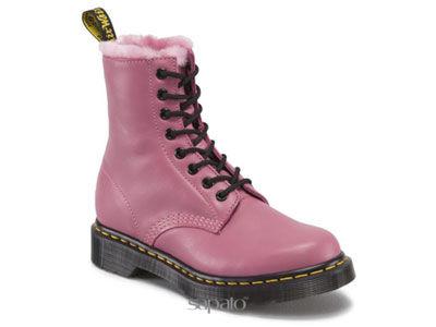 Ботинки Dr. Martens 13934650 SERENA Pink Cartegena Dr Martens мех розовые