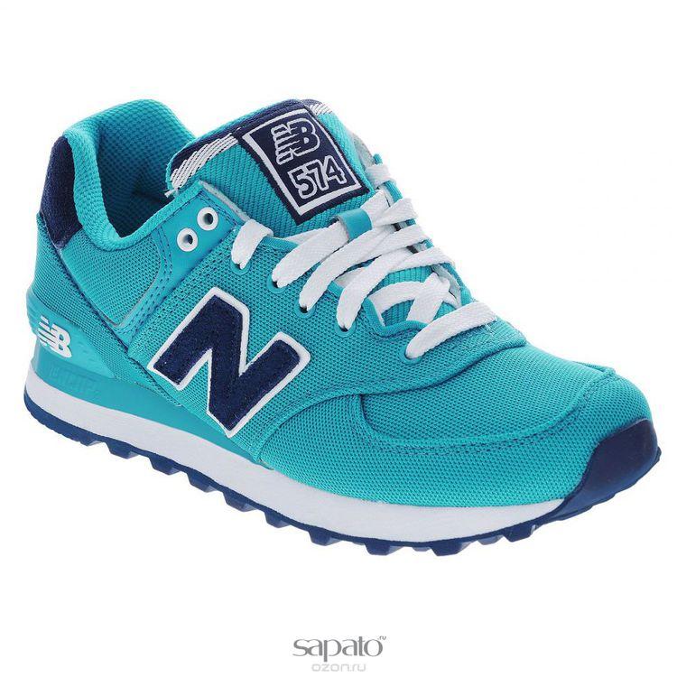 Кроссовки New Balance Кроссовки женские. WL574PO голубые