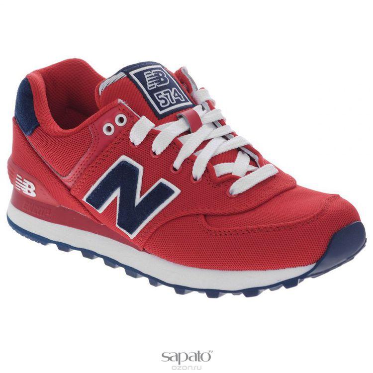 Кроссовки New Balance Кроссовки женские. WL574PO красные
