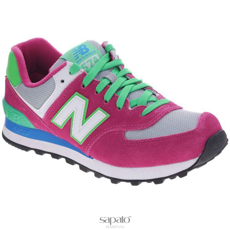 Кроссовки New Balance Кроссовки женские. WL574CPV/B розовые