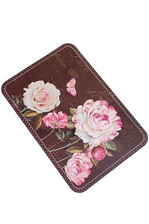 """Подставки под посуду Красный куб Салфетка под посуду """"Розы в шоколаде"""""""