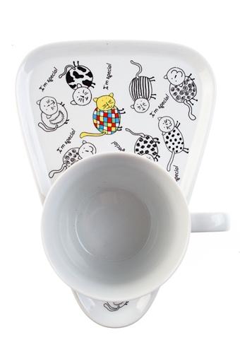 """Чайные пары Красный куб Чайная пара """"Я - особенный котик"""""""