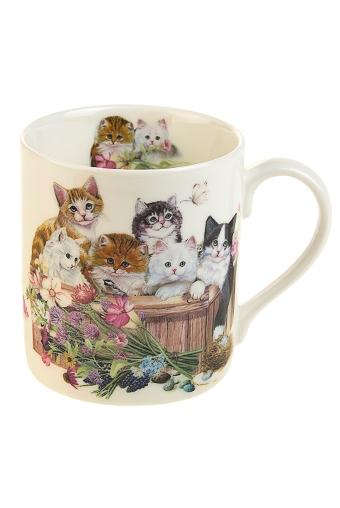 """Сувениры для женщин Красный куб Кружка """"Счастливые котята"""""""