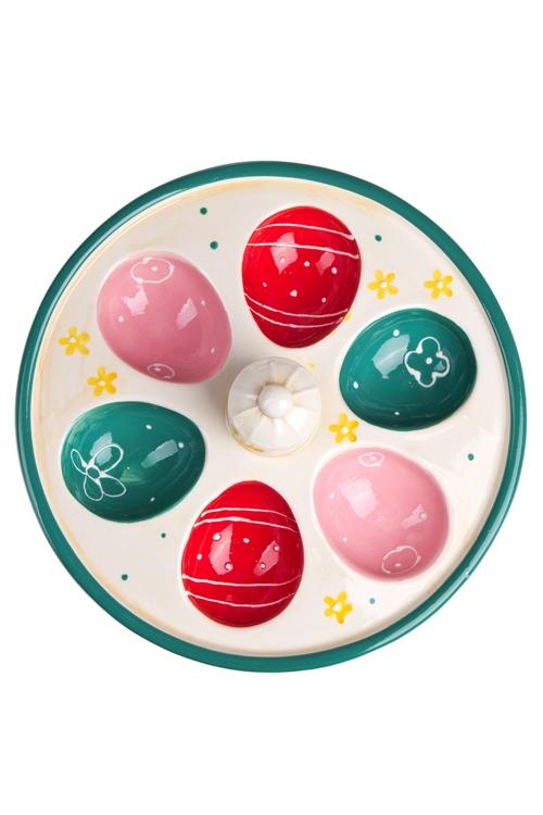 """Блюда и подставки для яиц Красный куб Блюдо для яиц """"Клетка"""""""