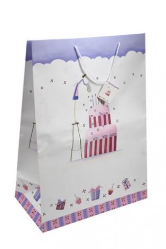 """Пакеты «С Днем рождения» Красный куб Пакет подарочный """"Громадный торт"""""""