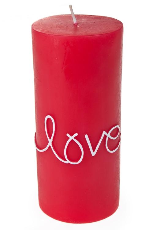 """Декоративные свечи Красный куб Свеча """"Я люблю тебя"""""""