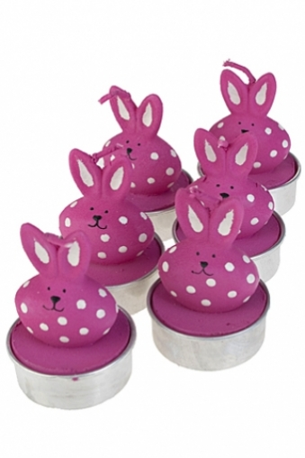 """Декоративные свечи Красный куб Набор свечей-таблеток """"Толстый кролик"""""""