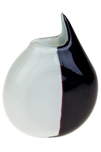 """Стеклянные вазы и кашпо Красный куб Ваза для цветов """"Черное и белое"""""""