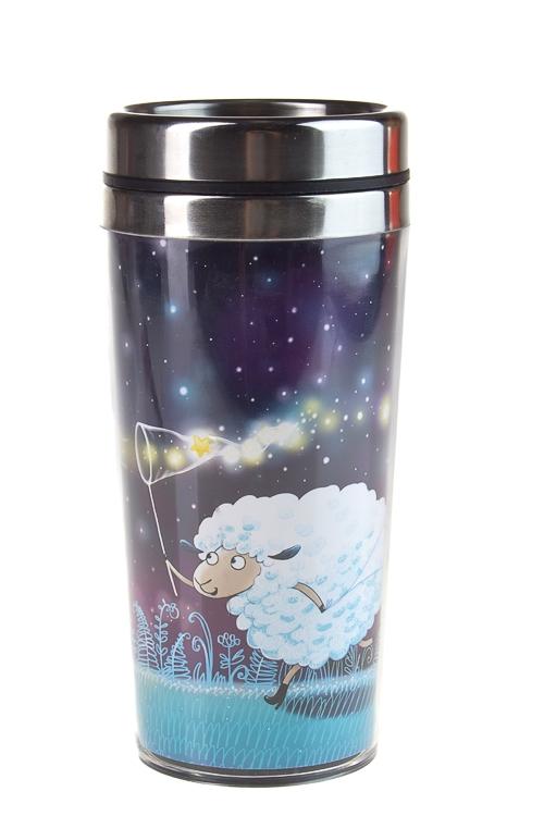 """Термокружки и стаканы для чая/кофе Красный куб Термокружка с крышкой """"Ловец звезд"""""""