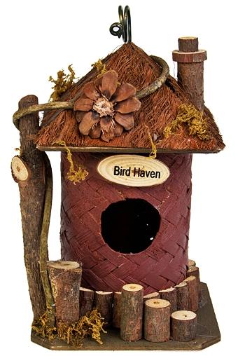 """Скворечники Красный куб Декор для сада-кормушка для птиц """"Птичий рай"""""""