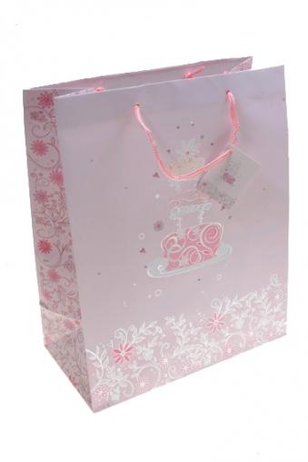 """Пакеты «С Днем рождения» Красный куб Пакет подарочный """"Нежный торт"""""""
