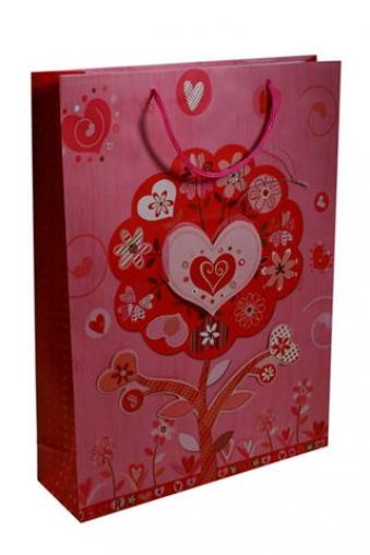 """Пакеты про Любовь Красный куб Пакет подарочный """"Древо любви"""""""
