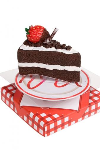 """Свечи для торта и вечеринок Красный куб Свеча """"Земляничный торт"""""""
