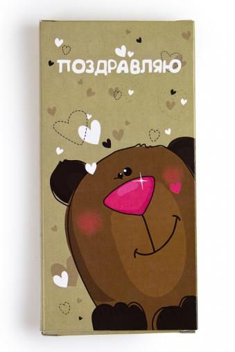 """Сувениры для женщин Красный куб Шоколадная открытка """"Мишка"""""""