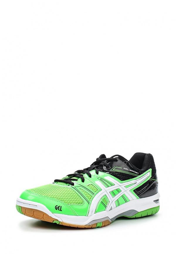 Кроссовки Asics B405N зеленые, чёрные
