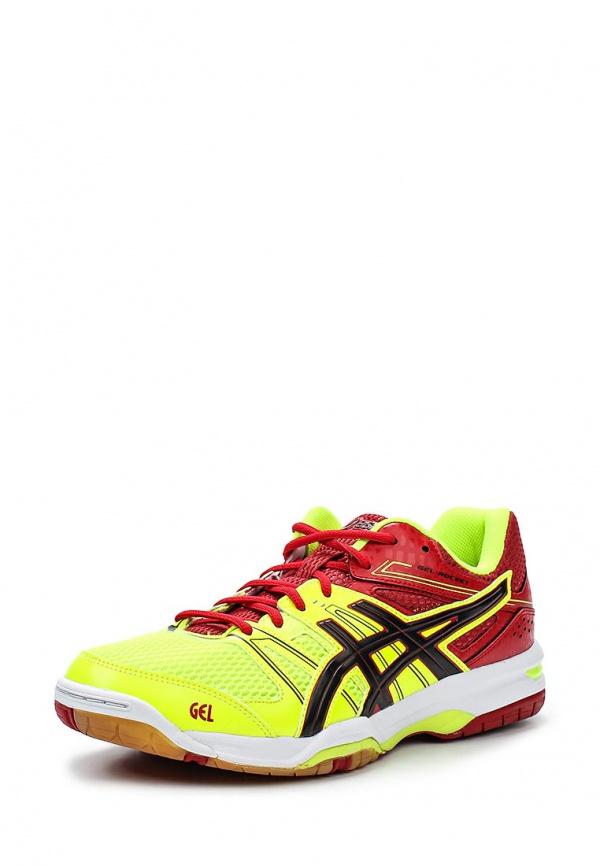 Кроссовки Asics B405N жёлтые, красные