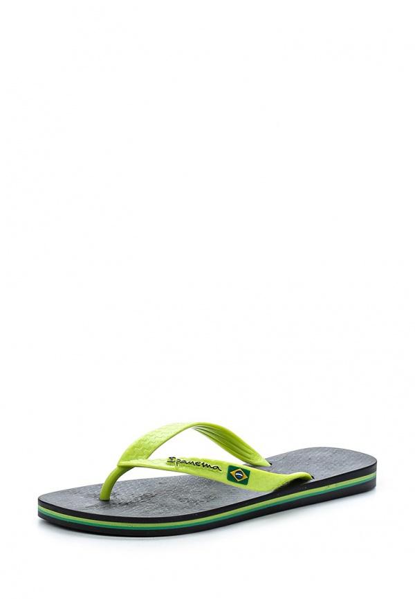 Сланцы Ipanema 80415-23238-A зеленые, чёрные