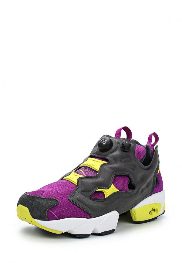 Кроссовки Reebok Classics M46895 фиолетовые, чёрные