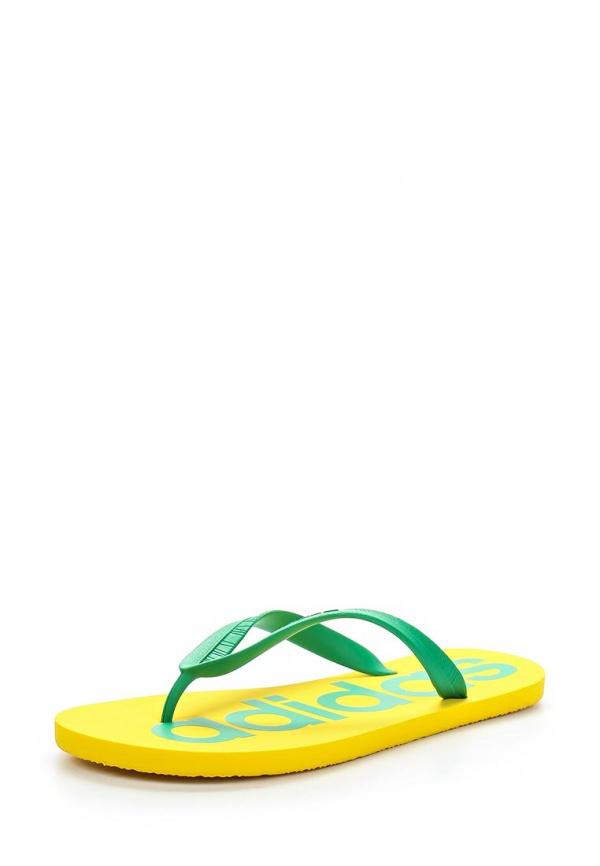 Сланцы adidas Neo F97880 жёлтые, зеленые