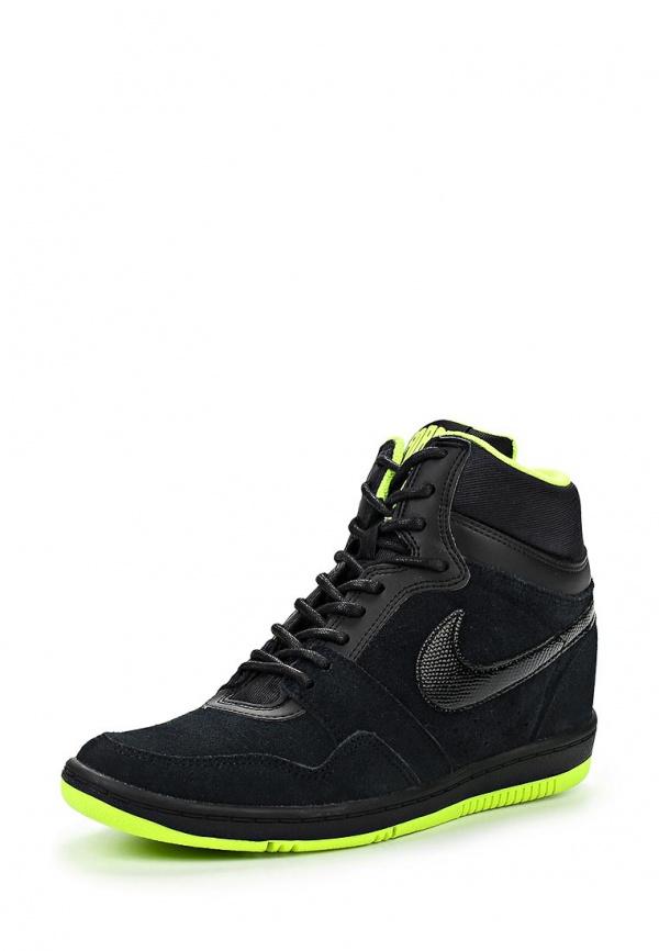 Кеды на танкетке Nike 644413-006 чёрные