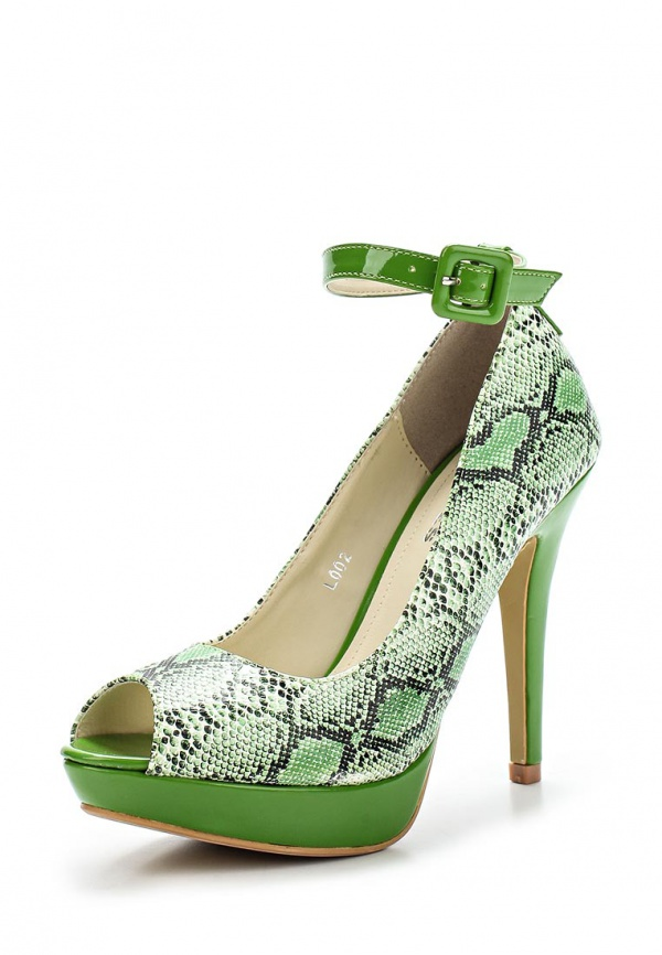Туфли WS Shoes L002 зеленые, мультиколор