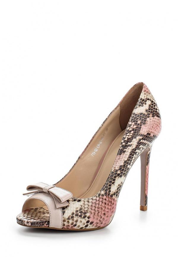 Туфли Calipso 719-02-LR-32-KK-01 бежевые, коричневые, розовые