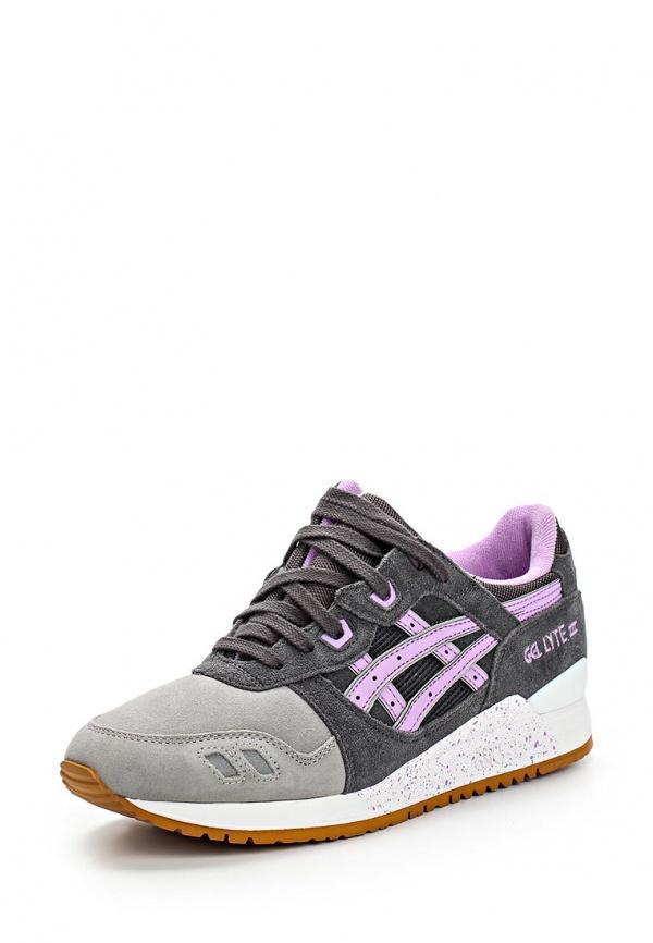 Кроссовки Asics H572L серые, фиолетовые