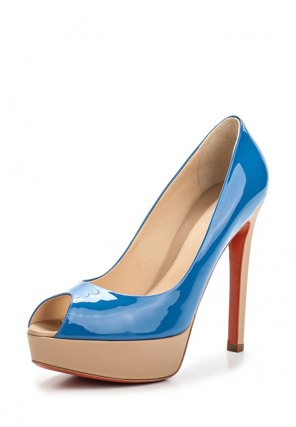 Туфли Baldinini 550601P91NANDYJSSU серые, синие