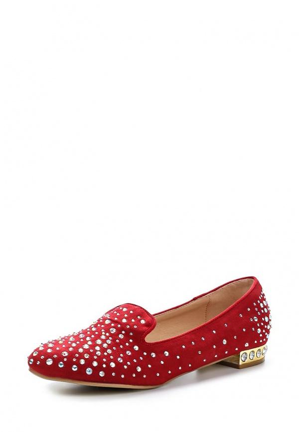 Лоферы Burlesque HRC-1512-5 красные