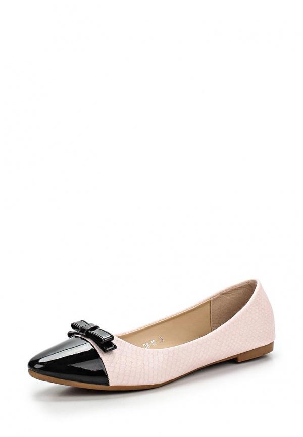 Балетки Girlhood D8-55 розовые, чёрные