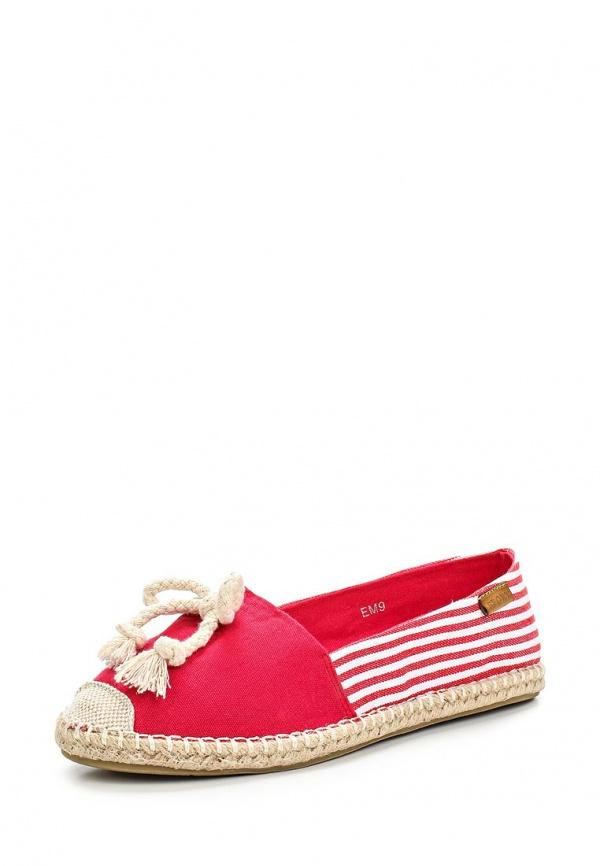 Слипоны Girlhood EM9 красные
